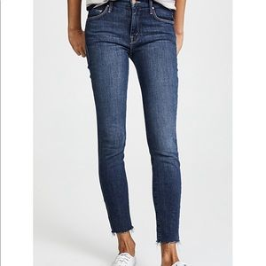 Mother the looker ankle fray jeans 27